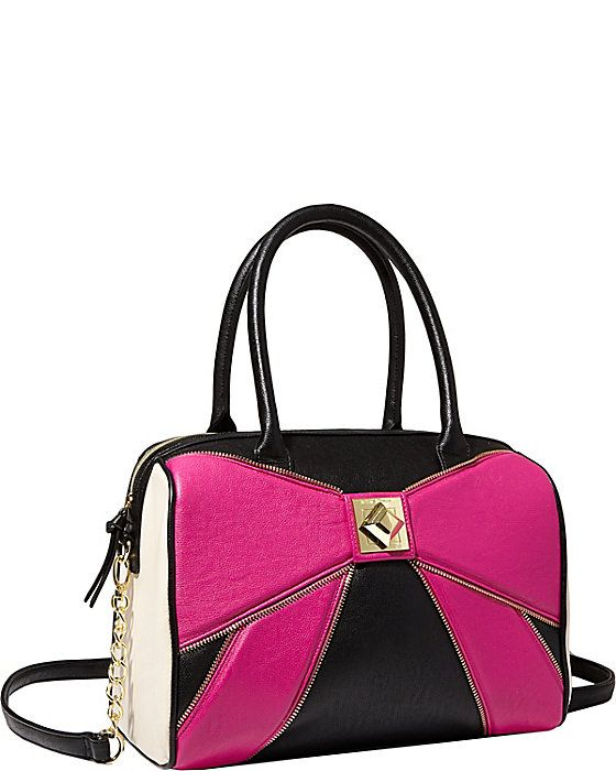 BOW ZIP SATCHEL PINK accessories handbags day satchels