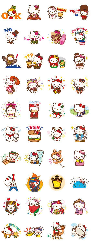 画像 - Hello Kitty Around the World by Sanrio - Line.me