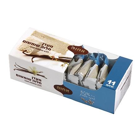 חטיף חלבה לייט ללא סוכר אחוה, מארז 11 יח'.  הקלק על התמונה!