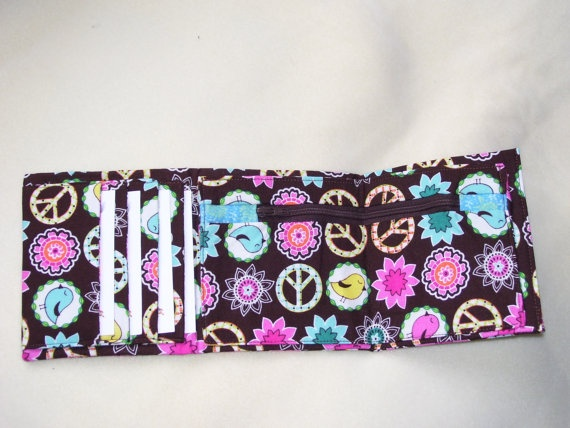 Unisex Trifold Fabric Pocket Wallet  Peace Love and by SpiritPenny, $20.00  ~SALE~ TAKE AN ADDTIONAL 20% OFF by using code BBT20 at checkout {May 7 thru May 14, 2013}