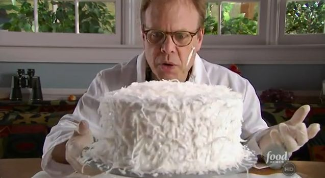 Alton Brown's Coconut Cake. I have heard tales of this incredible, and wonderous cake.