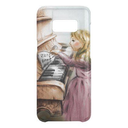 Samsung Galaxy vintage case - Piano Girl - girl gifts special unique diy gift idea