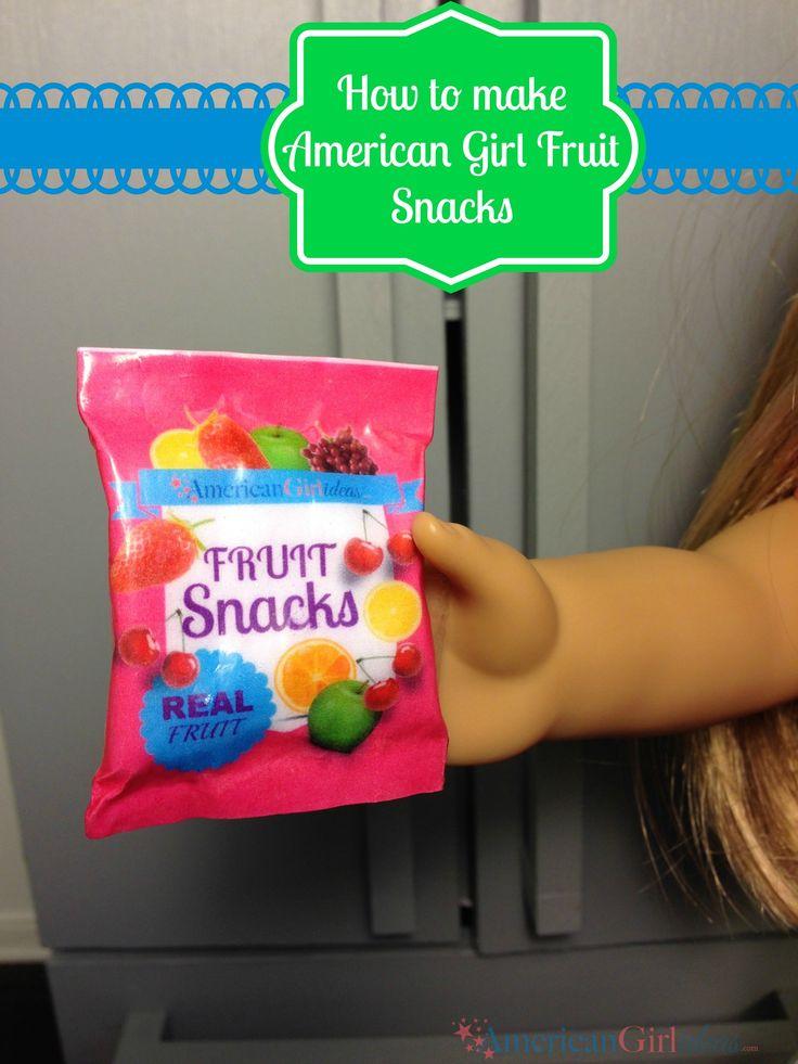American Girl Doll Food – How to Make Fruit Snacks