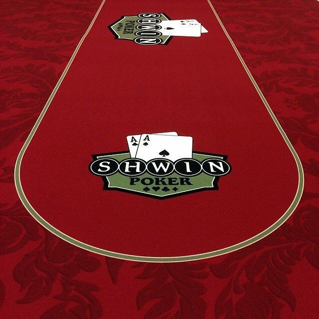 Custom poker felts for Shwin Poker.� ����� Wanna see more?  We sell tons of cool casino supplies online.  Link in our bio!