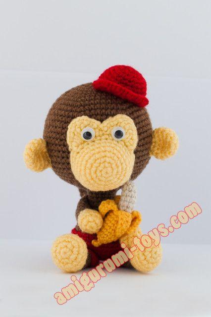 Вязаная обезьянка крючком. Авторская схема вязания.