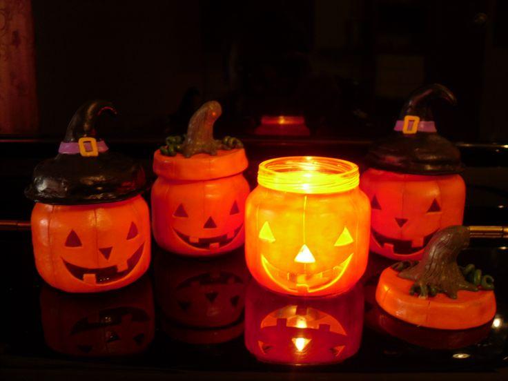 Vasetti Decorati In Fimo Per Halloween