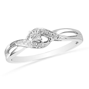 Miracle Set Diamond Sterling Silver Promise Ring. I like! Just wish the diamond in the center was bigger.