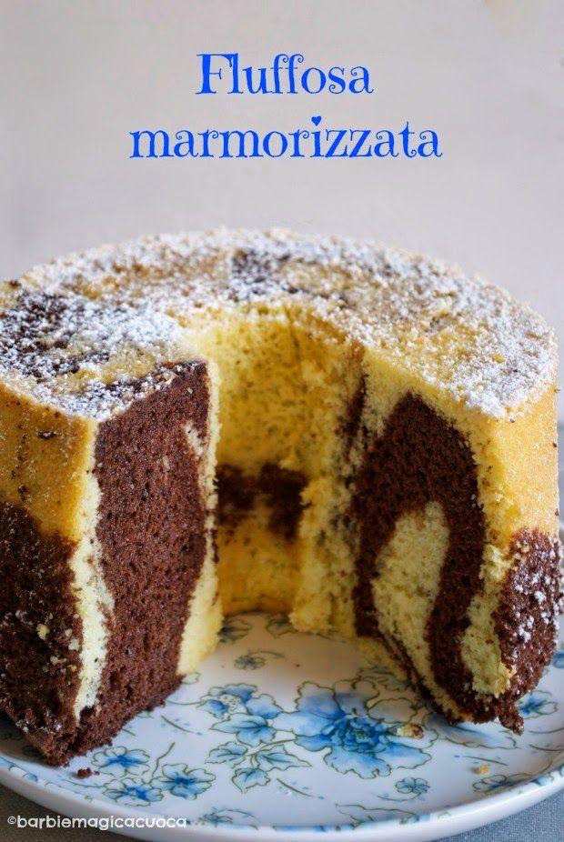 Torta fluffosa marmorizzata al cacao