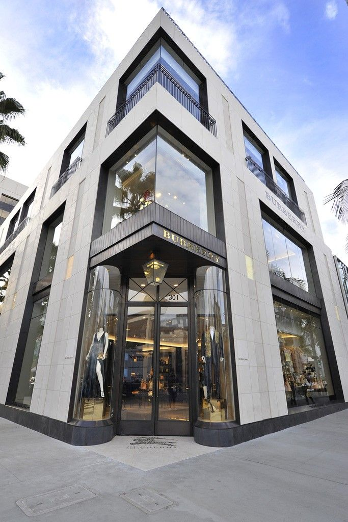 Burberry store on Rodeo Drive.