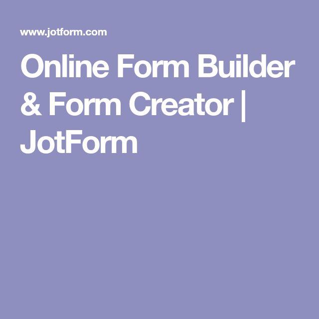 Online Form Builder & Form Creator | JotForm