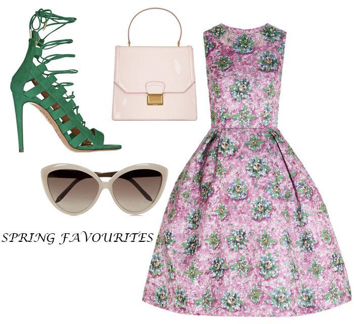 floral prints, floral print, Mary Katrantzou, netaporter, damla yaraman, veckorevyn, fashion, spring fashion, mode, modebloggare, fashion blog, pink, green, floral,