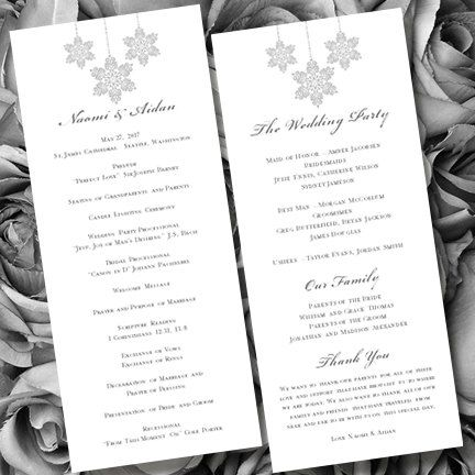 wedding ceremony program templates