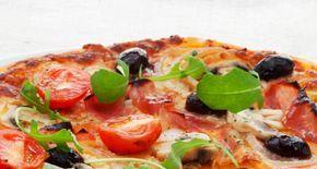Pizza de jamón, champiñones y rúcula | entulínea de Weight Watchers