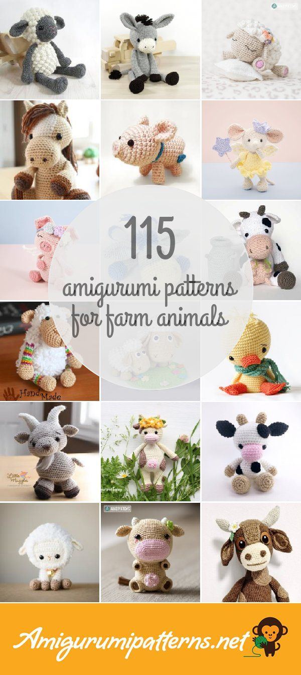 Amigurumi Patterns For Farm Animals | amigurumis, patrones y mucho ...