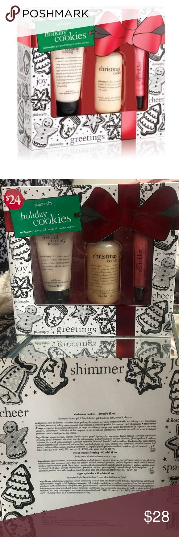 Philosophy Holiday Cookies Trio Gift Set New in box ...