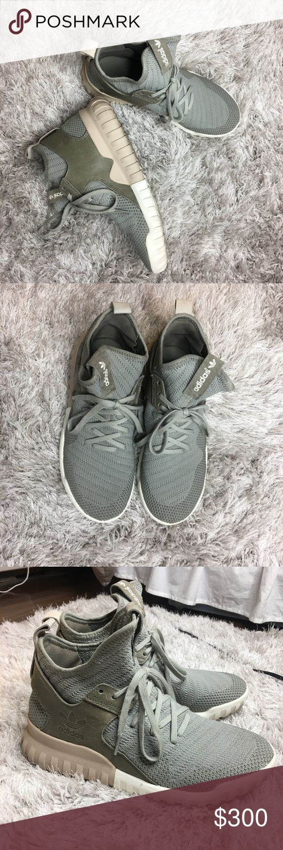 "Adidas Tubular x Primeknit Sneakers ""Sesame"" colorway. VERY RARE ! Men's 7.5 (Women's 9-9.5) Price firm. Shoes Sneakers"