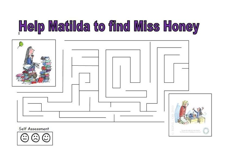 A Matilda maze - fun for Roald Dahl Day