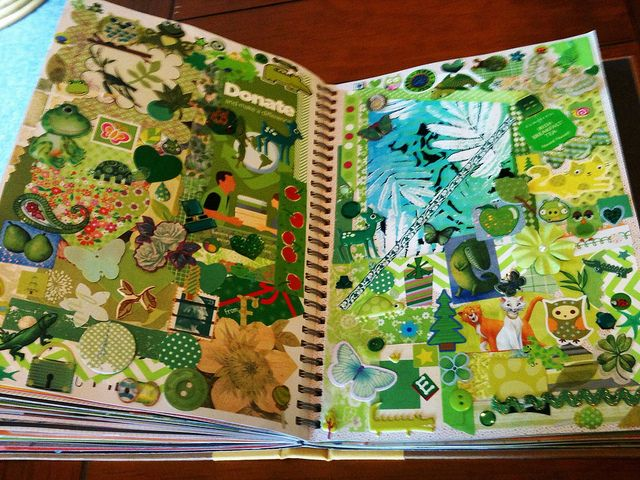 Green Smash Book Page | Flickr - Photo Sharing!