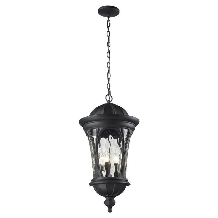 Z Lite Doma 543CHB BK Outdoor Pendant Light   543CHB BK