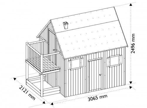 Cabane enfant duplex en bois SOULET