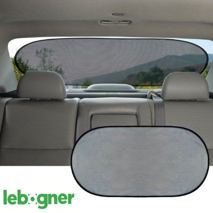 Car Cling Rear Window Sunshade By Lebogner - Premium Quality Large Baby Auto Sun Shield, Sun Protector, Blocking over 98% of Harmful UV Rays, Protects Children And Pets From The Sun's Glare, 2016 Amazon Hot New Releases Interior Accessories  #Automotive