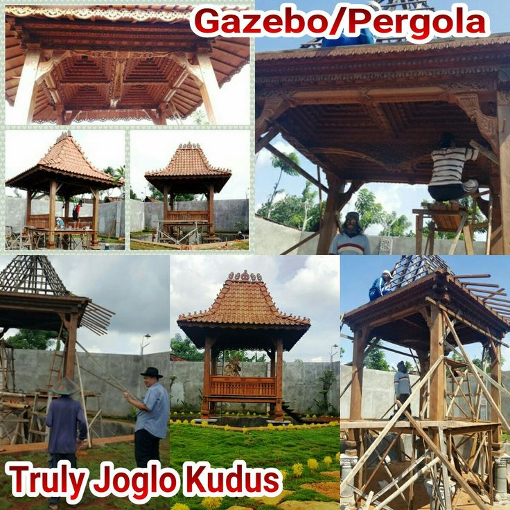 Our Gazebo Project in Tuban, East Java. Size 3m X 3 meters column 20cm. Made of recycled teak and hand carved beautifully as a decoration in front of the house with good roofing using terracotta tiles typically from Java. Info:  Telp/Whatsapp:(+62) 08112724234  Facebook: Arif Joglo Java Bali email: Truly.Arifsuryanto@Gmail.com Www.trulyjoglohouse.blogspot.co.id