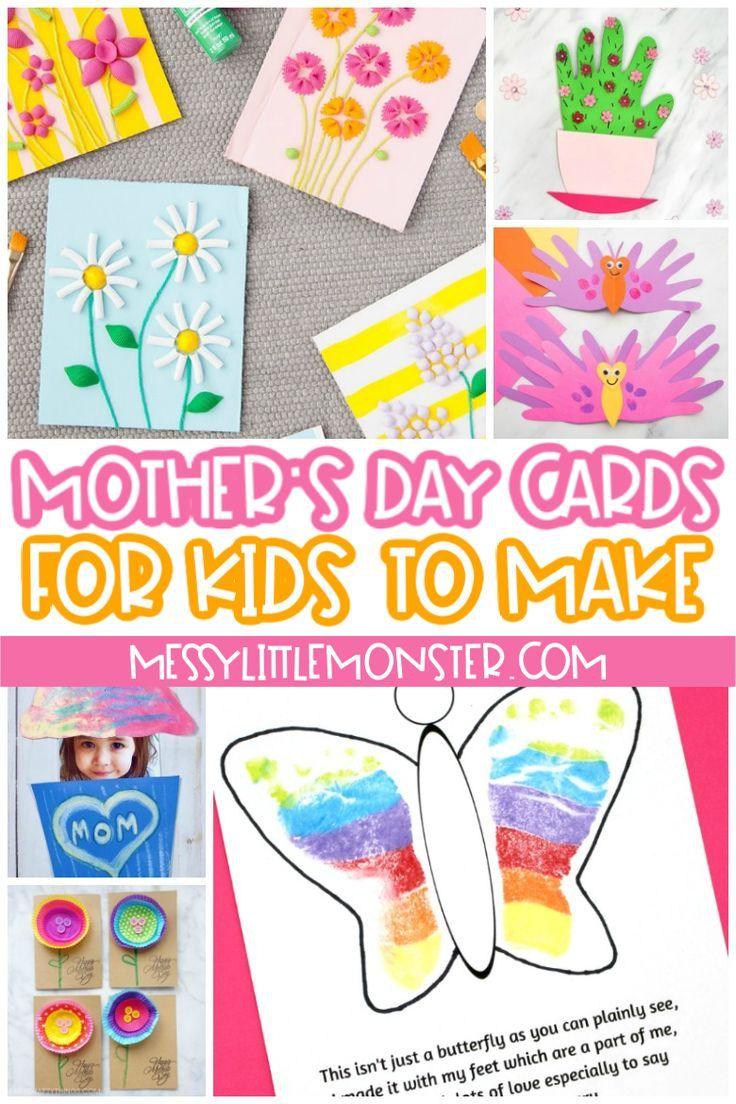 Mother S Day Cards For Kids To Make Mothers Day Cards Kids