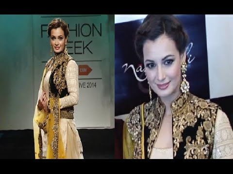 Dia Mirza's STUNNING ramp walk @ Lakme Fashion Week 2014.