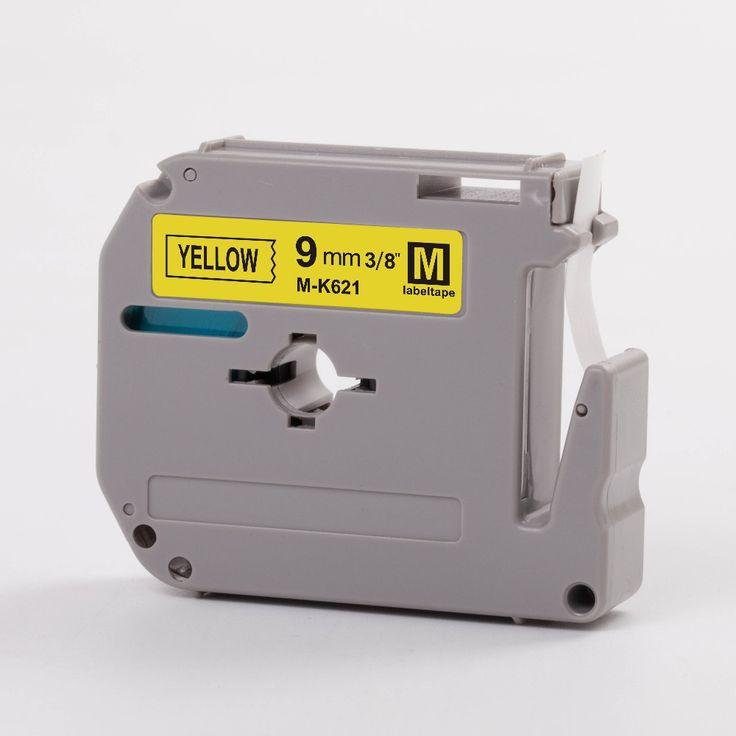 3 шт. совместимость мк этикетка ленточных картриджей для р сенсорным mk621 черного цвета на желтые ленты принять OEM заказ