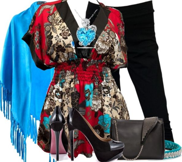 love all these colors and the stle of the top but maybe  little too busy for me.  Plus Size Empire Waist Tops