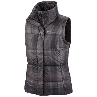 Columbia Sportswear Mercury Maven II Down Vest - 550 Fill Power (For Women) in Black Plaid