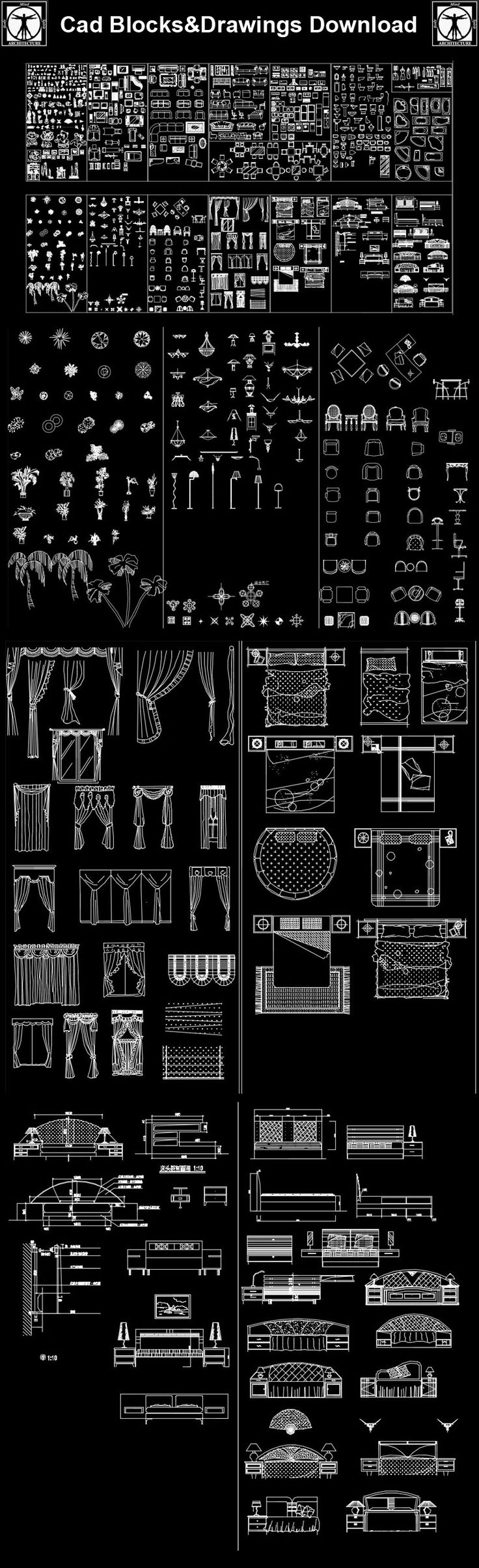 【Mix cad blocks bundle】 AutoCAD Blocks | AutoCAD Symbols | CAD Drawings | Architecture Details│Landscape Details   Full Cad blocks collection: Bathroom design, toilet design, bath design, office design, home design, sofa design, bedroom design, designer chairs, fire place design, kitchen design, kitchen sink design and interior lighting.