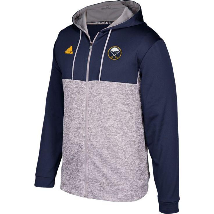 adidas Men's Buffalo Sabres Navy/Grey Full-Zip Hoodie, Size: Medium, Team