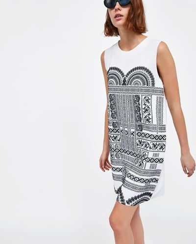 00ef2f6fc6 PRINTED RUBBERISED DRESS-NEW IN-WOMAN | ZARA Sweden | In My Closet ...