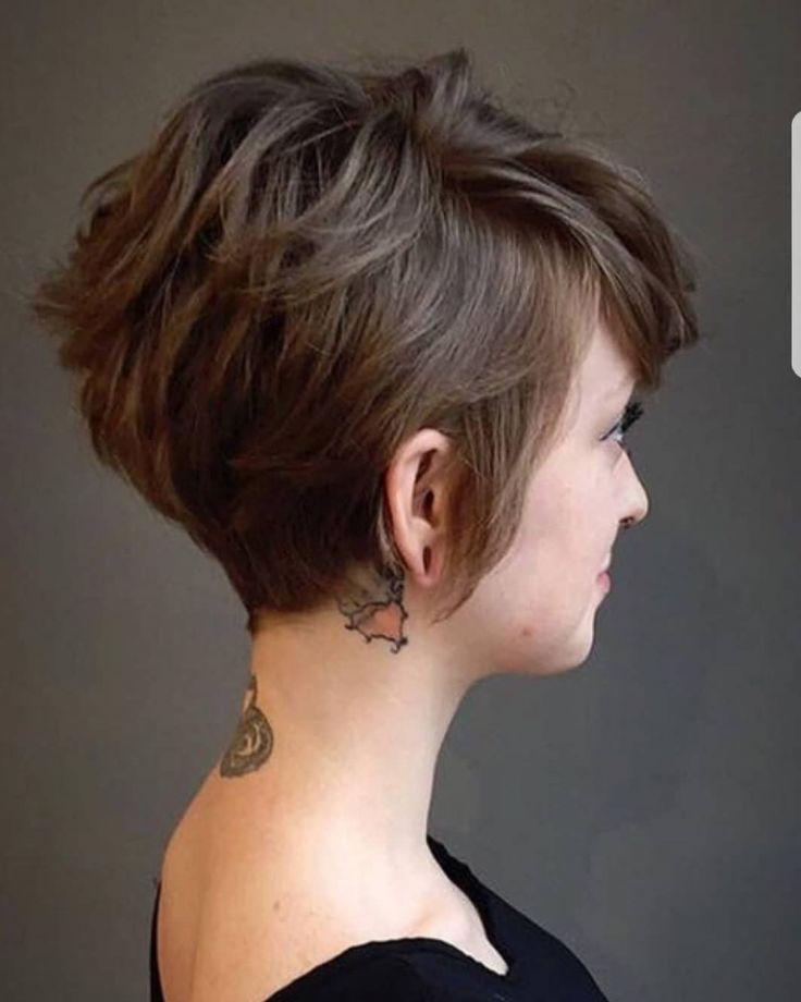 10 Schöne Asymmetrische Kurze Pixie Haarschnitte & Frisuren, Frauen, Kurze Haar…