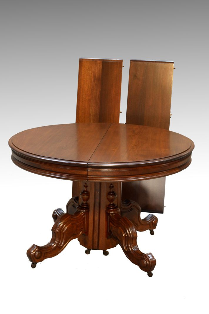 SOLD Antique Victorian Round Banquet Table – Civil War Era - 117 Best Antique Dining Room Furniture Images On Pinterest Dining