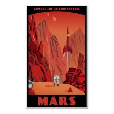 """""""Visit Mars"""" travel poster by stevethomas"""