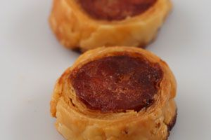 Chorizo in Puff Pastry - WA Finger Food Catering Perth Catering to Perth and surrounding areas since 1996. CALL US NOW 1800 216 902!