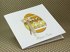 """Handmade Easter Card """"Yellow Easter Egg"""""""