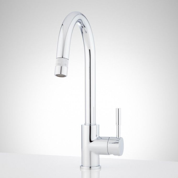 Cooley Single Hole Kitchen Faucet With Pull Down Spray Modern