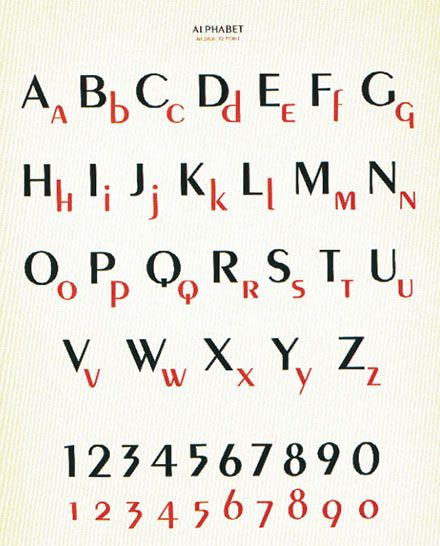 "Peignot, Adolphe Mouron Cassandre (1937) — On the occasion of the Paris World Fair in 1937, Cassandre released another successful typeface, ""Peignot"". He then devoted himself to painting. #typography #fonts"