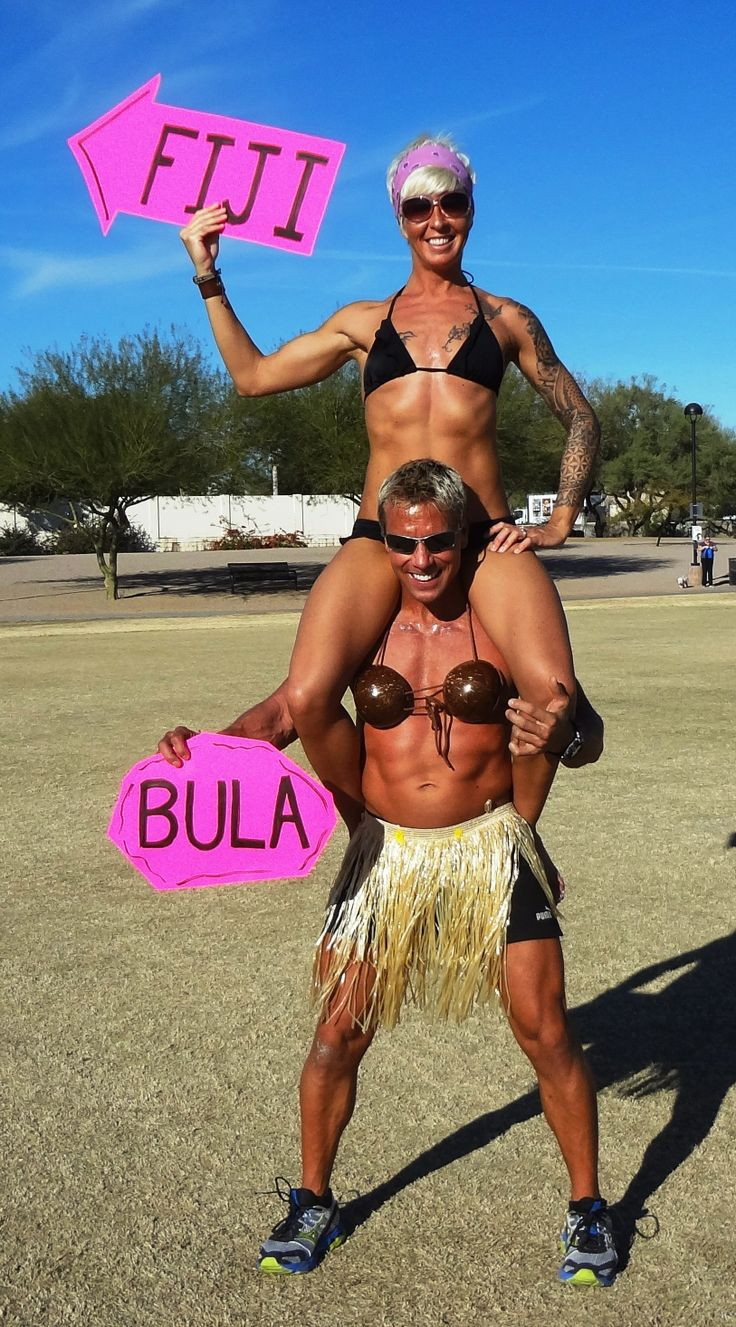 Bula from Paul & Ellen.  Keep following the arrows to wedding bliss.....in FIJI !!!  We're crazy in love and crazy about Fiji....why else would Paul willingly get funny tan lines from wearing coconuts as a bikini top !!!!