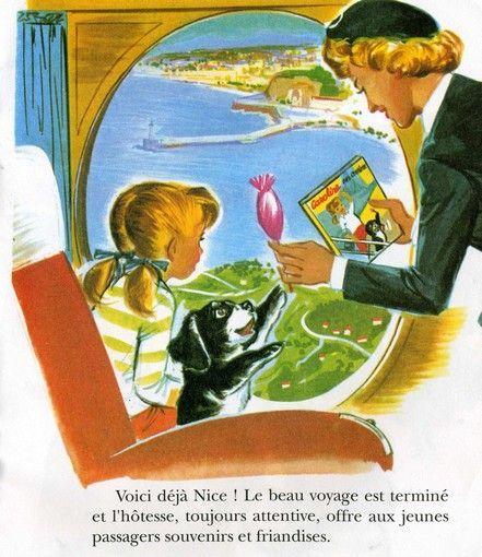 Caroline en Avion. éditions Hachette. Pierre Probst.