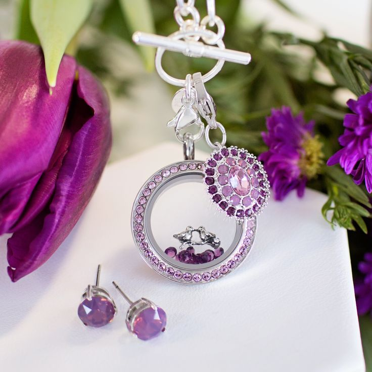Origami Owl has the perfect complement to your favorite spring dress. Our beautiful Amethyst Swarovski Hostess Exclusive is available beginning March 1st!