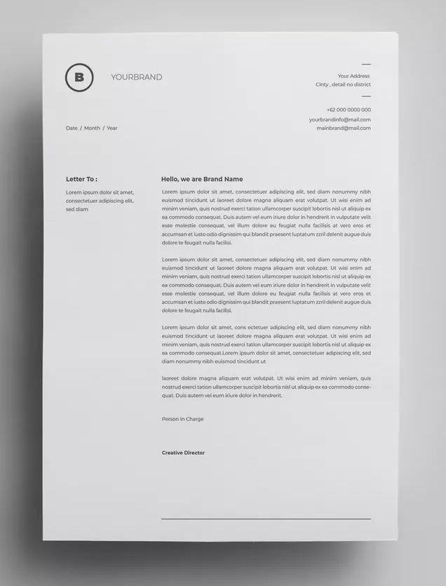 Letterhead Design Templates AI, EPS - A4 paper size - 300 DPI
