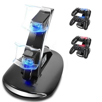 Garhon PS4 Controller Charger Station, Dual USB Charger Charging Docking Station Stand for Sony PlayStation 4 PS4 / PS4 Pro / PS4 Slim Controller