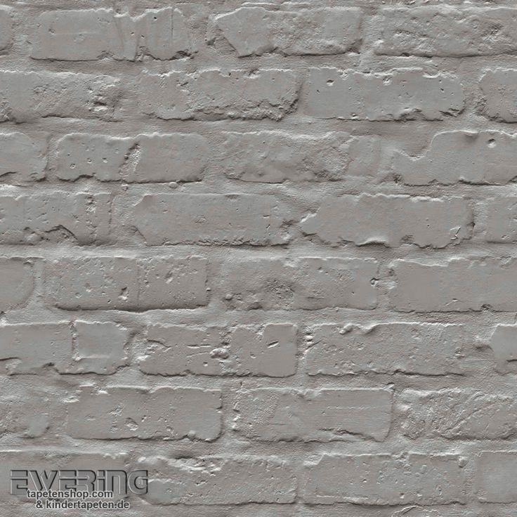 Grandeco Splendour 37-SD3702 Stein-Mauer silber-grau Vliestapete
