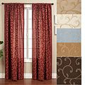 Medici Trellis Embroidered 96-inch Curtain Panel | Overstock.com Shopping - The Best Deals on Curtains