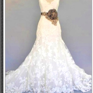 Omg im in future dress country style lace for Wedding dresses with a little color