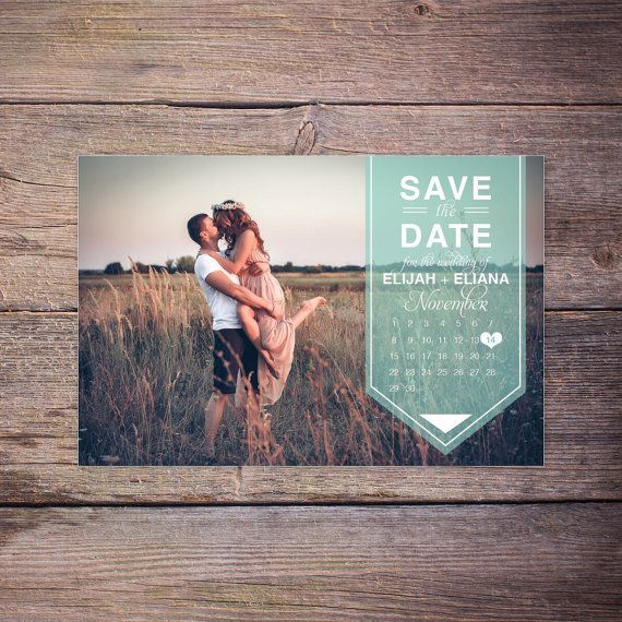 Moderne, sauf la carte postale Date, Save-the-Date carte Photo, carte postale, calendrier Destination mariage, bricolage fichier imprimable, Digital - Karson + Khole